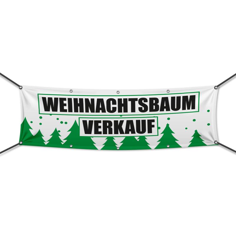 druckundso.de Weihnachtsbaumverkauf M1 weiß Banner, Plane ...