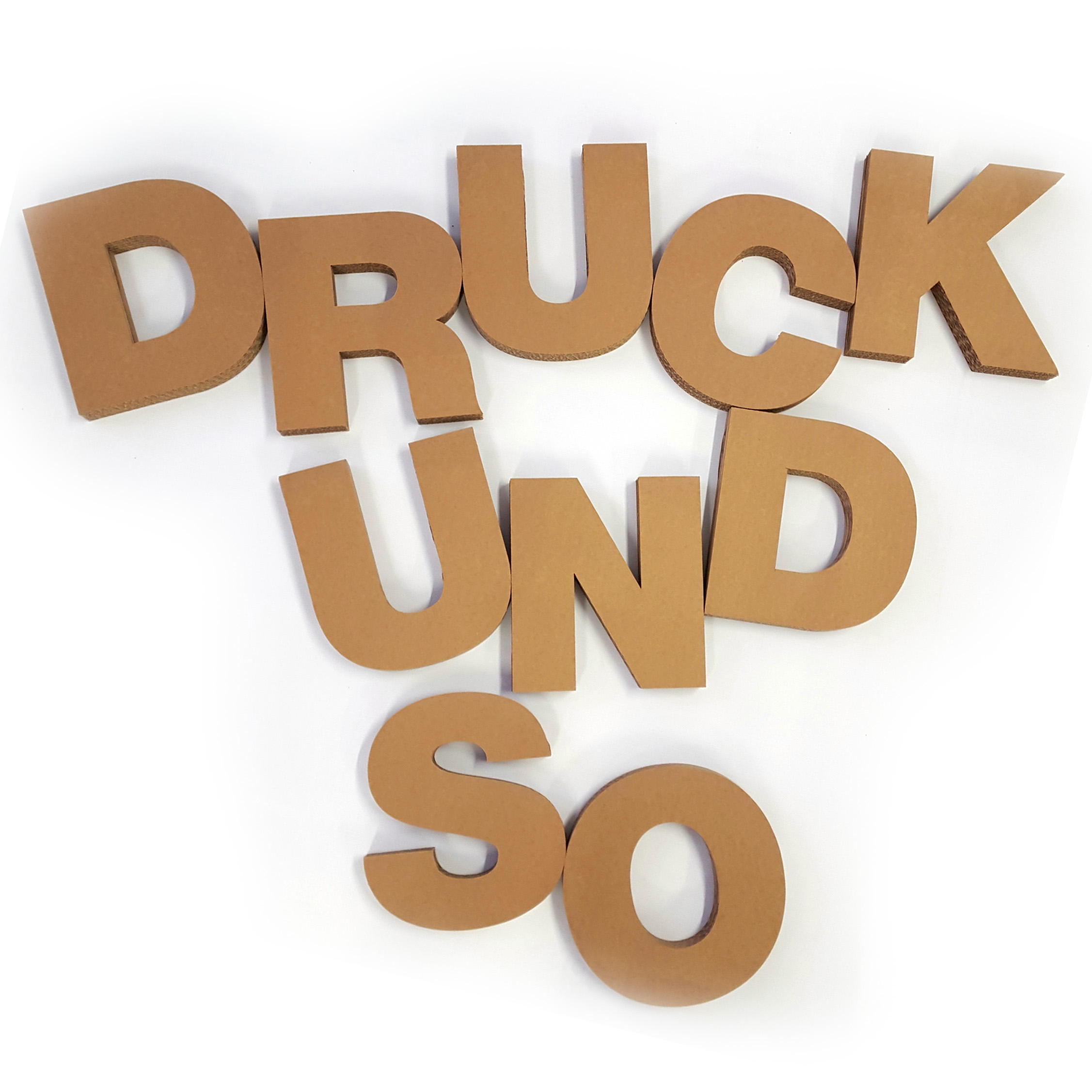 Deko Buchstaben Pappe druckundso.de pappe | kleinbuchstaben, dekoration, wellpappe