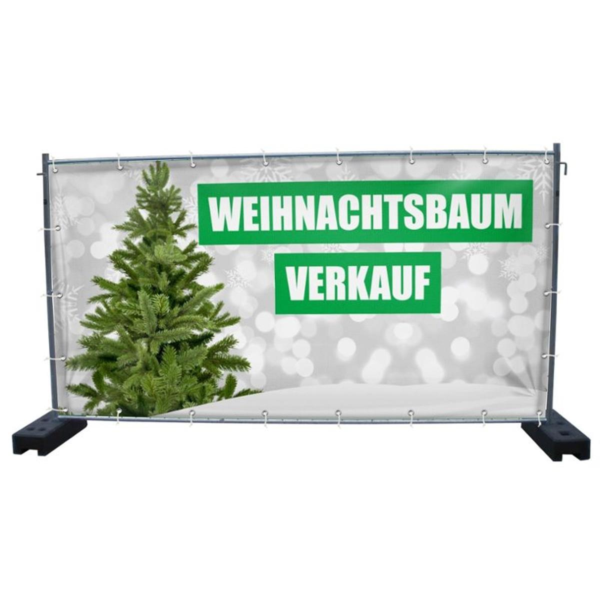 340 x 173 cmWeihnachtsbaumverkauf Bauzaunbanner PVC V6 Motiv